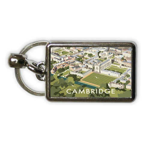 An Aerial View of Cambridge, Cambridgeshire Metal Keyring