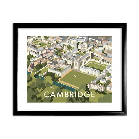 An Aerial View of Cambridge, Cambridgeshire 11x14 Framed Print (Black)