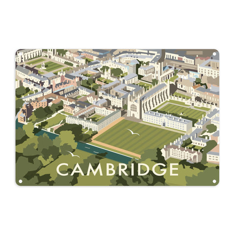 An Aerial View of Cambridge, Cambridgeshire Metal Sign