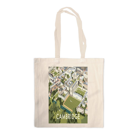 An Aerial View of Cambridge, Cambridgeshire Canvas Tote Bag