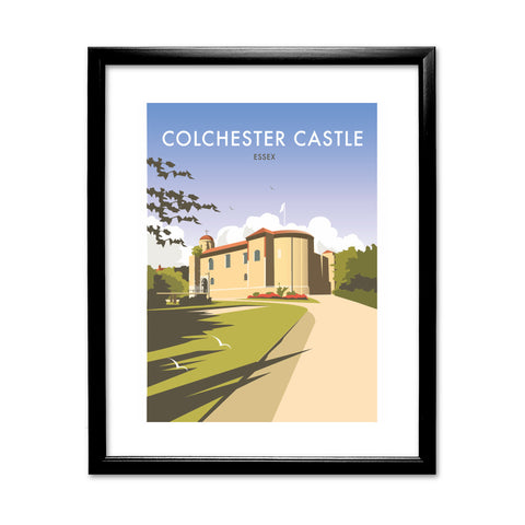 Colchester Castle 11x14 Framed Print (Black)