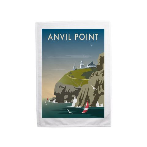 Anvil Point Tea Towel