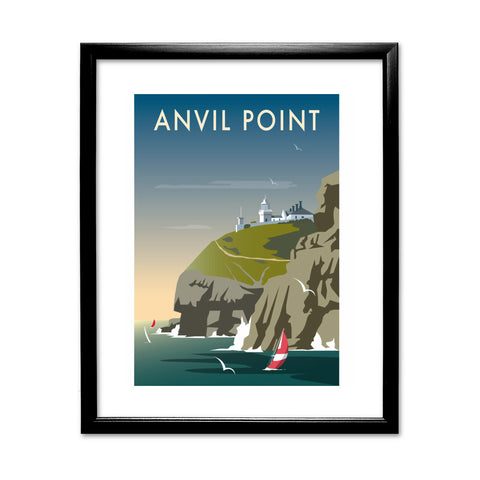 Anvil Point 11x14 Framed Print (Black)