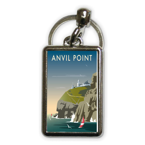 Anvil Point Metal Keyring