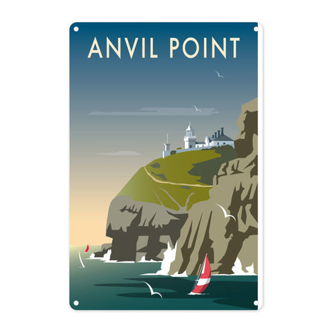 Anvil Point Metal Sign