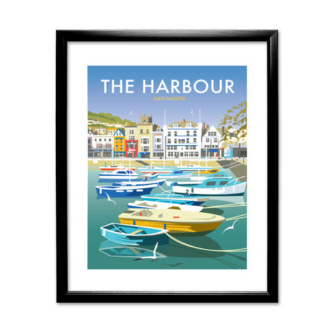 The Harbour, Dartmouth 11x14 Framed Print (Black)