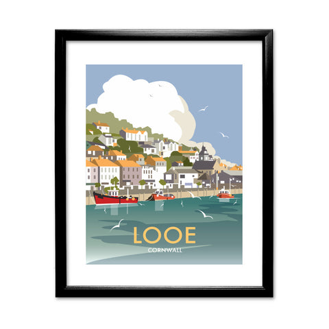 Looe, Cornwall 11x14 Framed Print (Black)