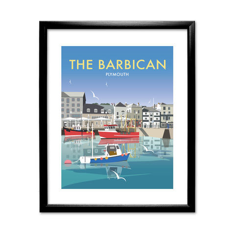 The Barbican, Plymouth 11x14 Framed Print (Black)