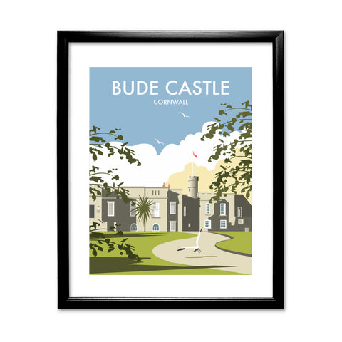 Bude Castle, Cornwall 11x14 Framed Print (Black)