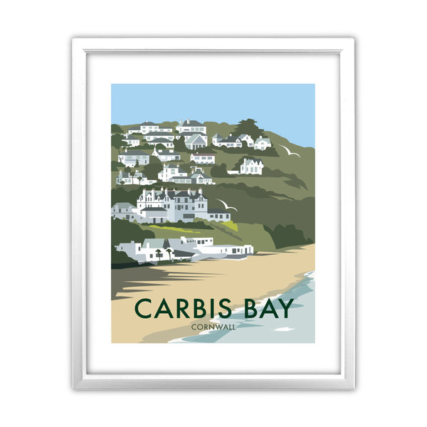 Carbis Bay, Cornwall 11x14 Framed Print (White)