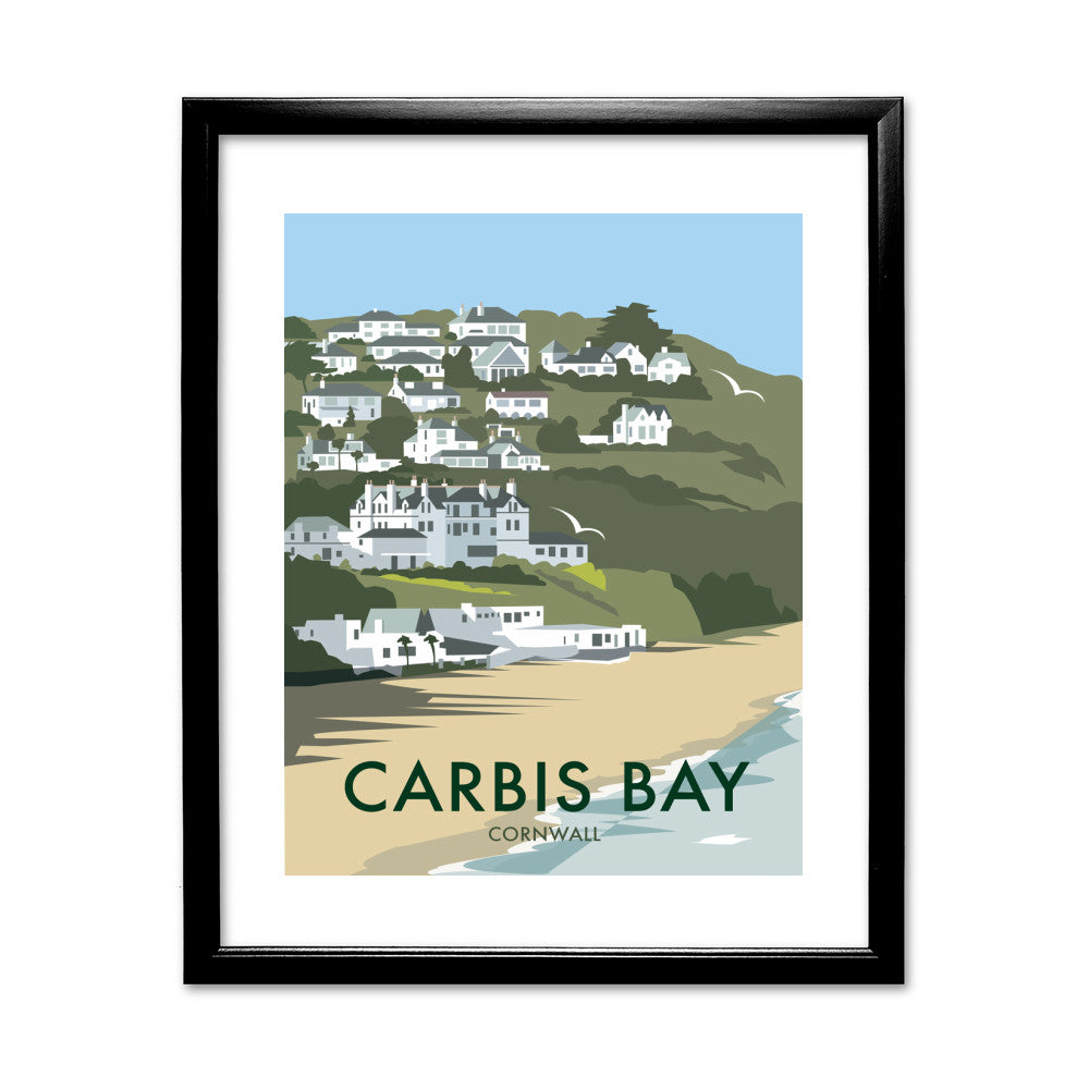 Carbis Bay, Cornwall 11x14 Framed Print (Black)