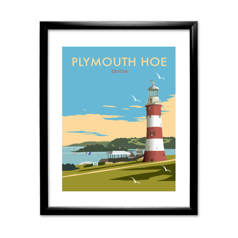 Plymouth Hoe, Devon 11x14 Framed Print (Black)