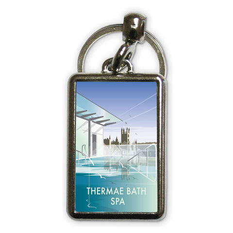 Thermae Bath Spa Metal Keyring