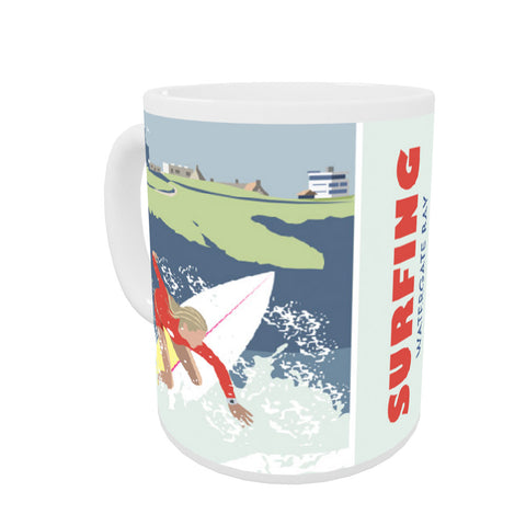 Watergate Bay, Cornwall Coloured Insert Mug