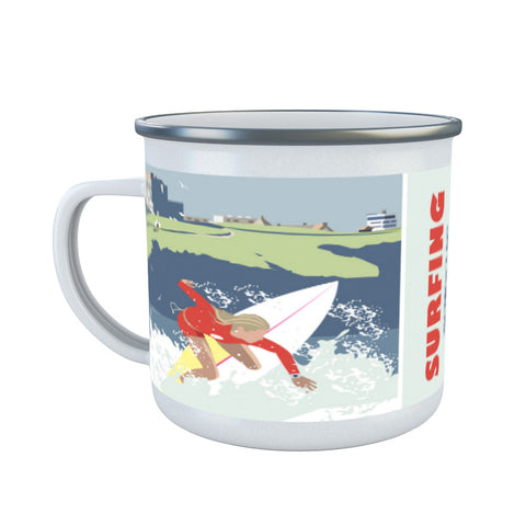 Watergate Bay, Cornwall Enamel Mug