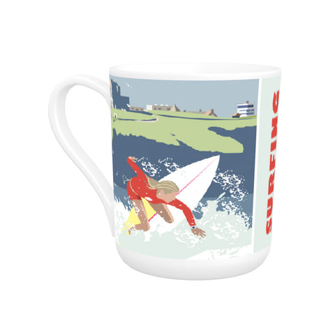 Watergate Bay, Cornwall Bone China Mug