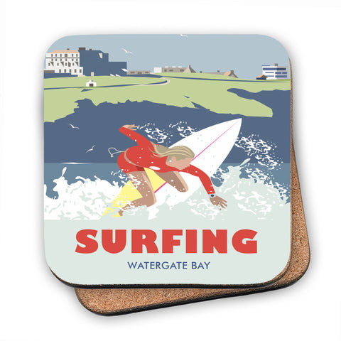 Watergate Bay, Cornwall MDF Coaster