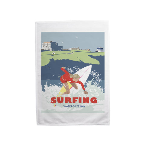 Watergate Bay, Cornwall Tea Towel