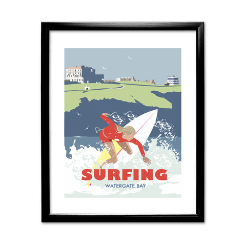 Watergate Bay, Cornwall 11x14 Framed Print (Black)