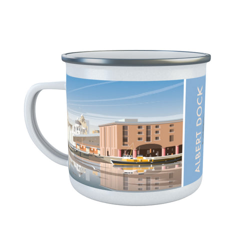 Albert Dock, Liverpool Enamel Mug