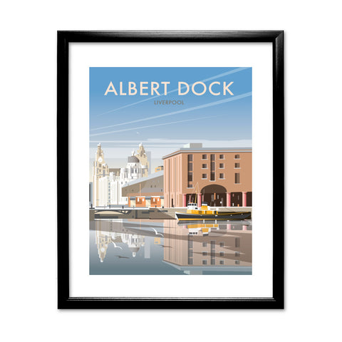 Albert Dock, Liverpool 11x14 Framed Print (Black)
