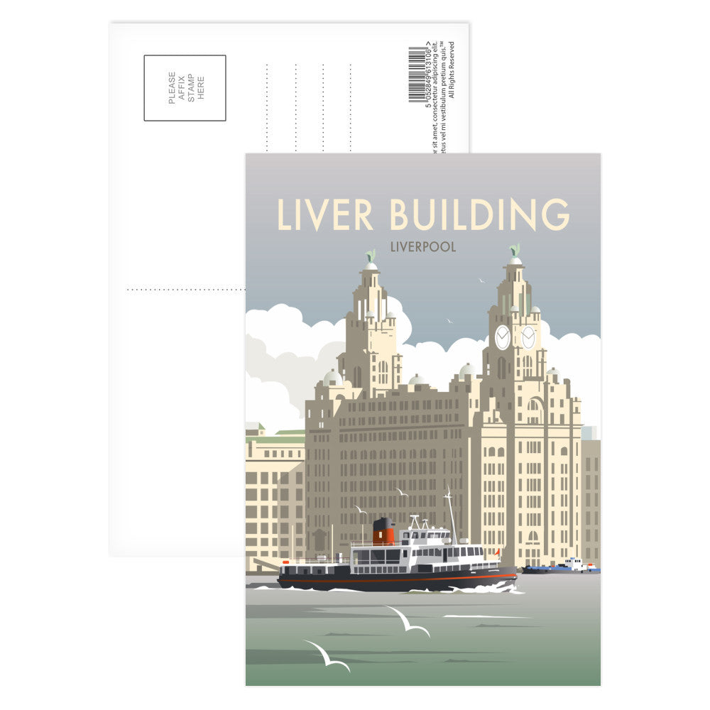 Liver Building, Liverpool Postcard Pack