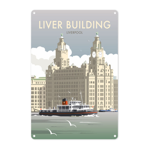 Liver Building, Liverpool Metal Sign