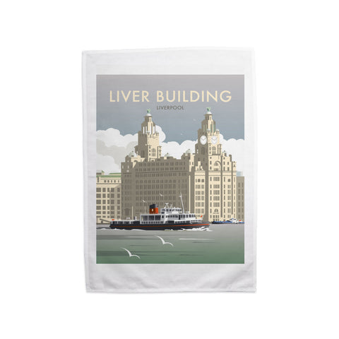 Liver Building, Liverpool Tea Towel