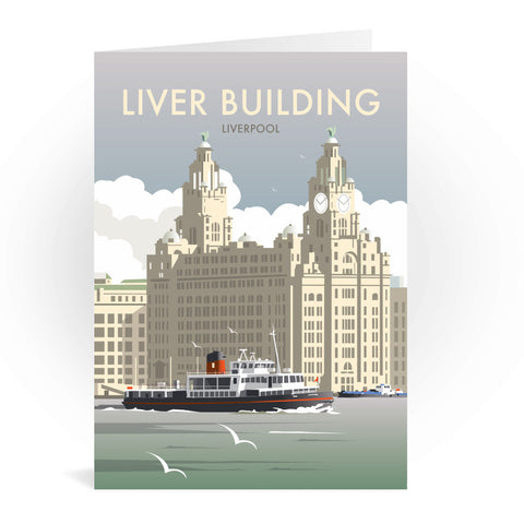 Liver Building, Liverpool Greeting Card 7x5