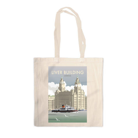 Liver Building, Liverpool Canvas Tote Bag