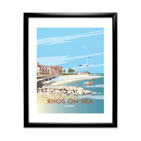 Rhos on Sea, Wales 11x14 Framed Print (Black)