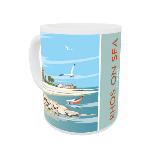 Rhos on Sea, Wales Coloured Insert Mug