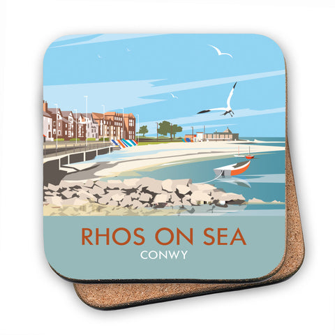 Rhos on Sea, Wales MDF Coaster