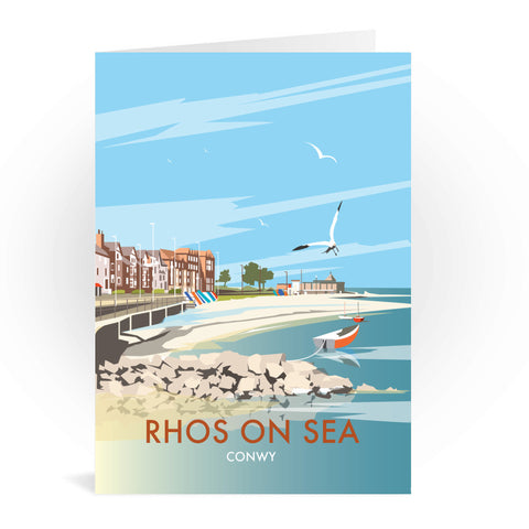 Rhos on Sea, Wales Greeting Card 7x5
