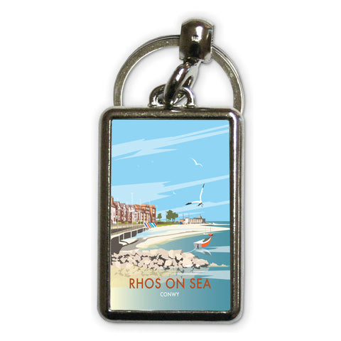Rhos on Sea, Wales Metal Keyring