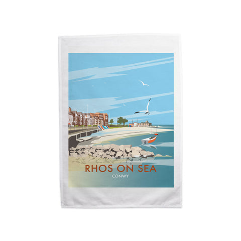 Rhos on Sea, Wales Tea Towel