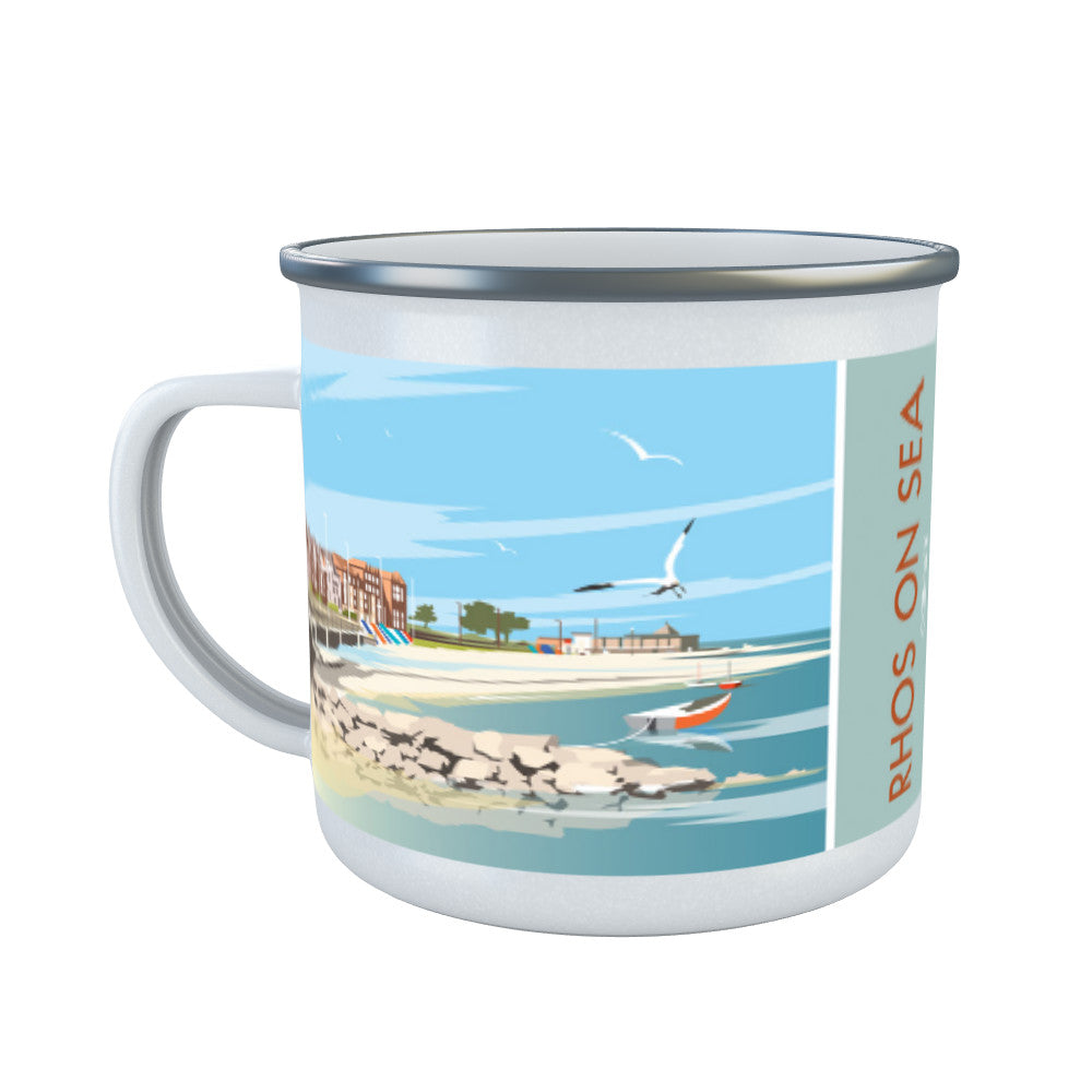 Rhos on Sea, Wales Enamel Mug