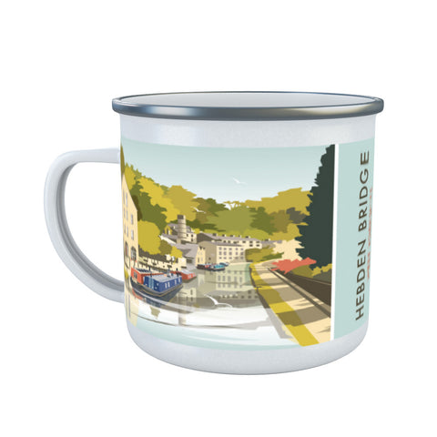 Hebden Bridge Enamel Mug
