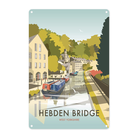 Hebden Bridge Metal Sign