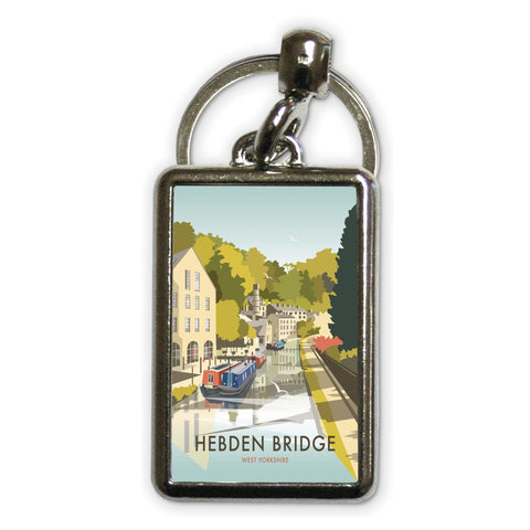 Hebden Bridge Metal Keyring