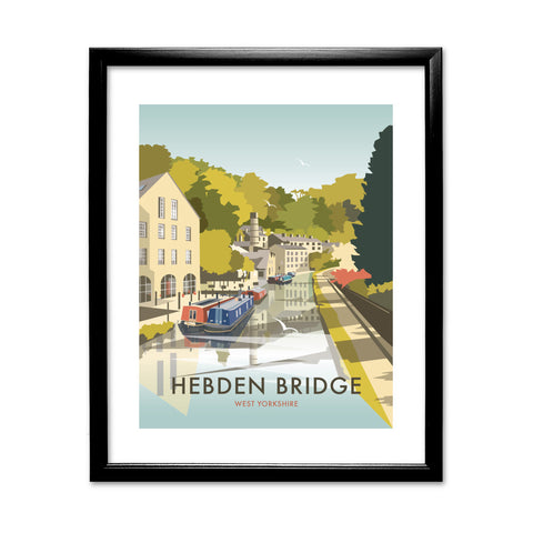 Hebden Bridge 11x14 Framed Print (Black)