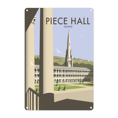 The Piece Hall, Halifax Metal Sign