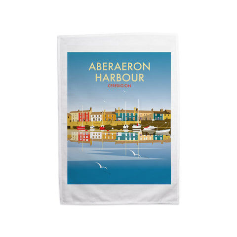 Aberaeron Harbour Tea Towel