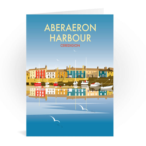 Aberaeron Harbour Greeting Card 7x5