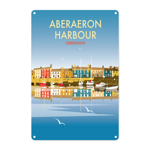Aberaeron Harbour Metal Sign