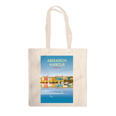 Aberaeron Harbour Canvas Tote Bag