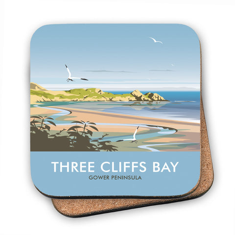 Three Cliffs Bay, Wales MDF Coaster