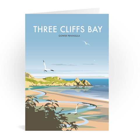 Three Cliffs Bay, Wales Greeting Card 7x5