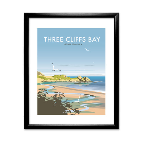 Three Cliffs Bay, Wales 11x14 Framed Print (Black)