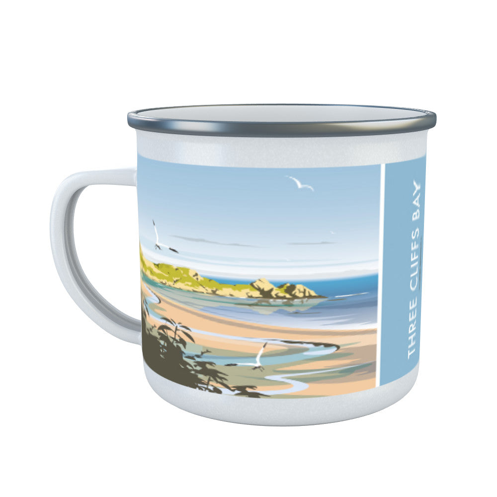 Three Cliffs Bay, Wales Enamel Mug